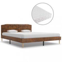 VID művelúr ágy matraccal 160x200 cm barna