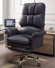 főnöki design forgószék/fotel extra puha tapintású huzattal - fekete színben - B ÁRU
