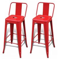 VID 2 db piros négyzet alakú bárszék