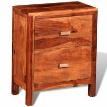 2-fiókos éjjeli szekrény tömör fából