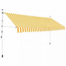 VID Manuálisan feltekerhető napellenző - 350 cm - sárga fehér csíkokkal