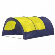 VID Poliészter kemping sátor 6 személyes Kék- sárga színben
