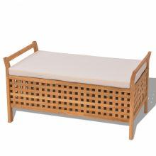Tömör diófa tároló láda/ ülőke 93x49x47 cm
