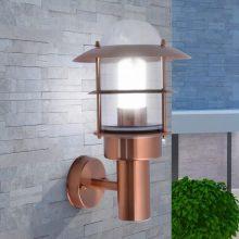 VID kültéri rozsdamentes acél fali lámpa rézszínű