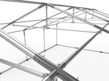 Professional deluxe 6x14m nehéz acélkonstrukciós rendezvénysátor erősített tetőszerkezettel