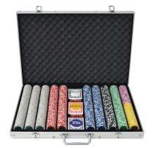 VID Pókerkészlet 1000 lézeres alumíniumzsetonnal