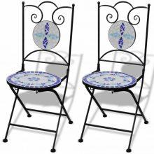 2 db-os kék / fehér mozaik szék
