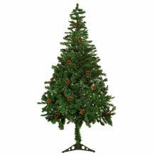Karácsonyi műfenyő fenyőtobozokkal - 150 cm