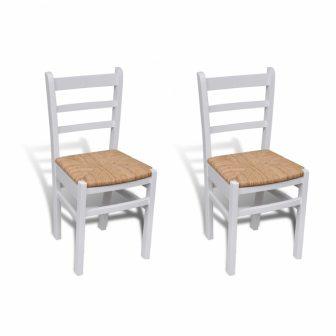 VID 2 db retro fa étkezőszék fehér színben