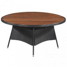 VID tömör akácfa kerti asztal 115 x 74 cm