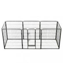 VID acél kutyakennel 8 panelből 80 x 100 cm, fekete színben