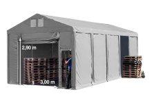 Vario raktársátor 5x10m - 3m oldalmagassággal-bejárat típusa: felhúzható