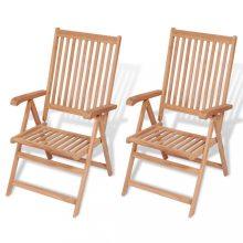 VID 2 db tíkfa kerti szék