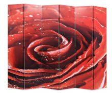 VID piros paraván 228 x 180 cm rózsa