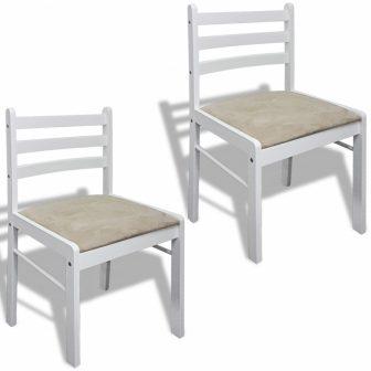 VID 2 db fa étkezőszék alacsony háttámlával fehér színben