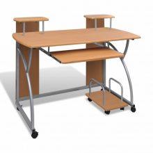 Kihúzható tálcás íróasztal/ számítógépasztal tölgy színben
