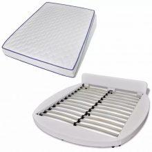 """VID PU bőr ágy 180x200 cm """"V18"""" memóriahabos matraccal, LED világítással, fekete színben 242565"""
