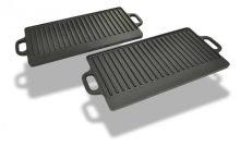 Öntöttvas grill tál reverzibilis 2 db-os szett