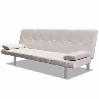 VID Krémfehér műbőr kanapéágy
