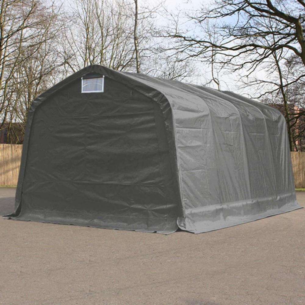 25fe8402a5a0 Ponyvagarázs/ sátorgarázs / tároló 3,3x4,8m -PVC 550g/nm szürke ...