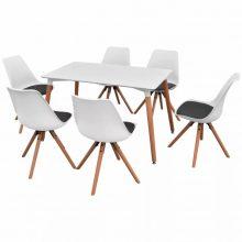 VID 7 darabos étkező szett - fehér asztallal
