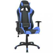 VID kék dönthető műbőr irodai szék