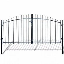 VID dupla ajtós lándzsahegy tetejű kerítéskapu 300 x 175cm