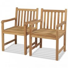 VID 2 db tömör tíkfa kültéri szék