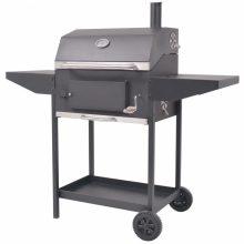 VID BBQ fekete faszén grillsütő polccal