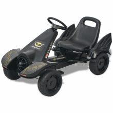 VID Pedálos gokart kocsi állítható üléssel fekete