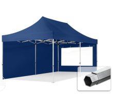 Professional összecsukható sátrak PROFESSIONAL 400g/m2 ponyvával, alumínium szerkezettel, 2 oldalfallal, panoráma ablakkal - 3x6m sötétkék
