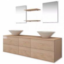 7 részes fürdőszoba bútor szett tágas szekrénnyel
