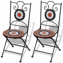 2 db-os terrakotta/ fehér mozaik szék