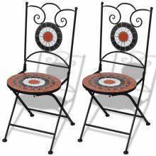 VID 2 db-os terrakotta/ fehér mozaik szék