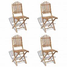 VID 4 darab összecsukható bambusz szék