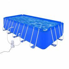 Fémvázas medence vízforgatóval [540 x 270 x 122 cm] - téglalap