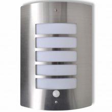 Rozsdamentes acél kültéri fali lámpa mozgásérzékelővel