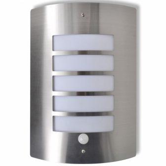 VID Rozsdamentes acél kültéri fali lámpa mozgásérzékelővel