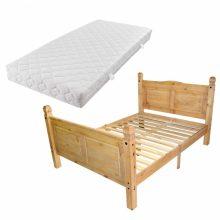 VID Krevet od meksičkog bora u stilu Corona s madracem 140 x 200 cm