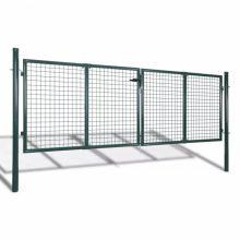 VID zöld kerti acél kerítés kapu 289 x 125 cm / 306 x 175 cm