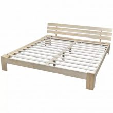 """Fa ágy 180x200 cm """"V8"""", ágyráccsal, tölgy színben"""