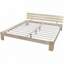 """VID Fa ágy 180x200 cm """"V8"""", ágyráccsal, tölgy színben"""
