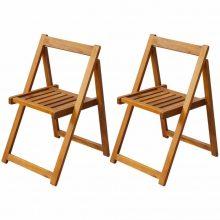 2 db kerti összecsukható kültéri akácfa szék