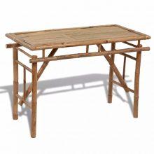 VID Bambusz összecsukható kerti asztal [120 x 50 x 77 cm]