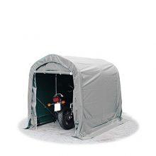 Ponyvagarázs/ sátorgarázs / tároló 1,6x2,4m -PVC 550g/nm  szürke színben földhöz való rögzítéssel