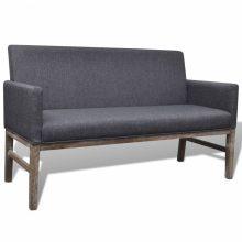 Sötétszürke kanapé vastagon bélelt huzattal