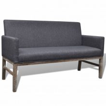VID Sötétszürke kanapé vastagon bélelt huzattal
