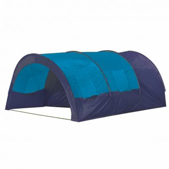 VID Poliészter kemping sátor 6 személyes Kék- Sötétkék színben