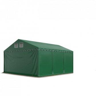 Raktársátor 3x6m professional 2,6m oldalmagassággal, sötétzöld 550g/m2
