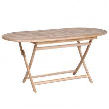 VID tíkfa összecsukható kerti asztal 160 x 80 x 75 cm